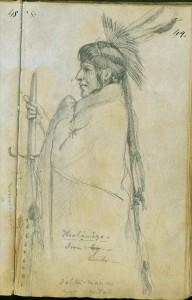 Hoohamaza, or Iron Leg, 1851 by Frank Blackwell Mayer
