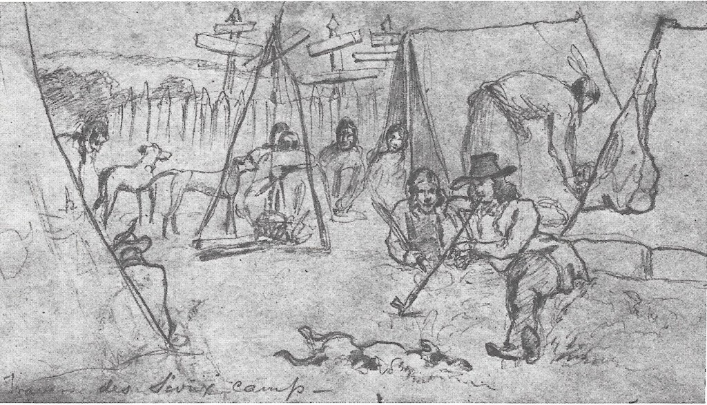 Camp Life at Traverse des Sioux by Frank Blackwell Mayer