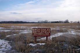Birch Coulee Battlefield sign