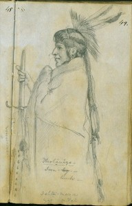 Hoohamaza, or Iron Leg, 1851 by Frank Blackwell Mayer
