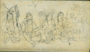 Sioux Evening Meal, Traverse des Sioux, 20th July, 1851 by Frank Blackwell Mayer