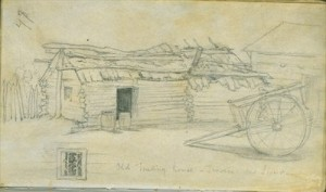 Old Trading House, Traverse des Sioux, 1851 by Frank Blackwell Mayer