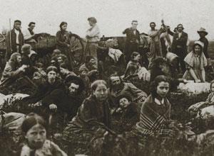 settlers flee