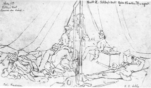 Henry Sibley's tent at the Treaty of the Traverse des Sioux, 1851, by Frank Blackwell Mayer