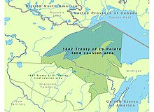 Territory Ceded by the 1842 Treaty with the Ojibwe (Wikipedia)